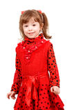 Cute little girl in red dress Stock Photo