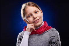 Cute little girl with scarf Royalty Free Stock Photos
