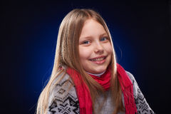 Cute little girl with scarf Royalty Free Stock Photography