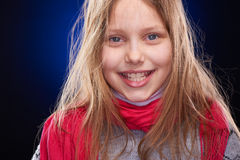 Cute little girl with scarf Stock Photography