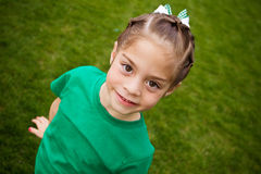 Cute little Girl (Selective focus) Stock Photo