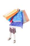 Cute little girl shopping Stock Photos