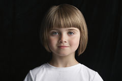 Cute Little Girl With Short Hair Stock Image