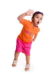Cute little girl shout Stock Images