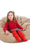 Cute little girl sitting Royalty Free Stock Image