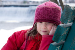 Little winter girl Royalty Free Stock Images