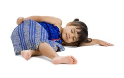 Cute little girl sleeping Stock Photography