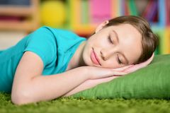 Cute little girl sleeping Royalty Free Stock Image