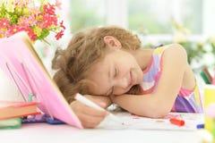 Cute little girl sleeping Stock Photography