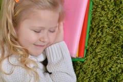 Cute little girl sleeping Royalty Free Stock Photos