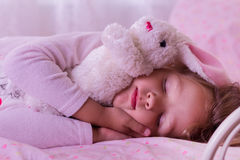 Cute little girl is sleeping. Royalty Free Stock Image