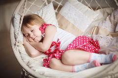 Cute little girl sleeping. Sweet dreams Royalty Free Stock Photos