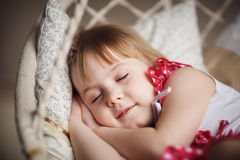 Cute little girl sleeping. Sweet dreams Royalty Free Stock Images
