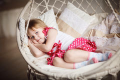 Cute little girl sleeping. Sweet dreams Stock Photos