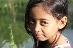 Cute Little Girl Smiling Royalty Free Stock Images
