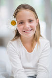 Cute little girl smiling at camera Royalty Free Stock Photo