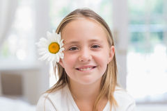 Cute little girl smiling at camera Stock Images
