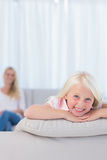 Cute little girl smiling at camera Royalty Free Stock Photos