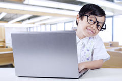 Cute Little Girl Smiling at Camera Stock Photography
