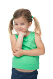 Cute little girl smiling at camera Stock Photos