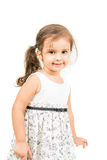 Cute little girl and smiling isolated Royalty Free Stock Images