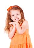 Cute little girl smiling Stock Image