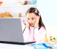 Cute little girl smiling Stock Photography