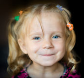 Cute little girl. Stock Photos