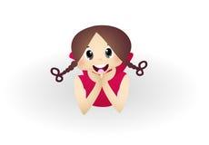 Cute Little Girl Smilling. Full colur Stock Image