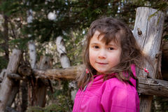 Little girl hiking Royalty Free Stock Images
