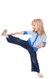 Cute Little Girl Stretching Royalty Free Stock Images