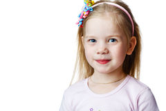 Cute little girl in studio Stock Photos
