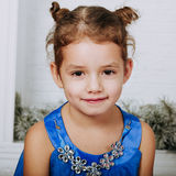 Cute little girl in studio Royalty Free Stock Photography