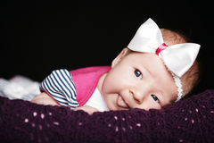 Cute little girl studio portrait Stock Photo