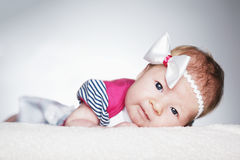 Cute little girl studio portrait Royalty Free Stock Images