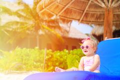 Cute little girl on summer beach Royalty Free Stock Photos
