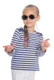 Cute little girl in sunglasses Royalty Free Stock Photography