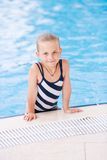 Cute little girl in swimming pool Royalty Free Stock Photo