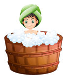 A cute little girl taking a bath Royalty Free Stock Images