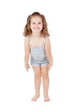 Cute little girl with three year old crouching Royalty Free Stock Photos
