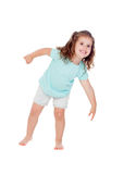 Cute little girl with three year old fooling Royalty Free Stock Photo