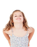 Cute little girl with three year old fooling Royalty Free Stock Photography