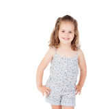 Cute little girl with three year old looking at camera Stock Photography