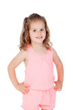 Cute little girl with three year old looking at camera Royalty Free Stock Images