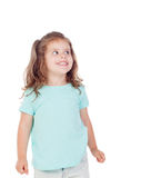 Cute little girl with three year old looking at side Stock Photography