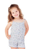 Cute little girl with three year old smiling Royalty Free Stock Images