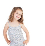 Cute little girl with three year old smiling Stock Images