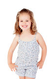 Cute little girl with three year old smiling Royalty Free Stock Photos