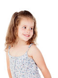 Cute little girl with three year old smiling Stock Image
