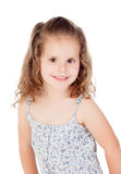 Cute little girl with three year old smiling Stock Photo